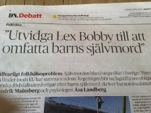 Debattartikel Lex Bobby