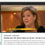 Tv4 - Utsatta barn får sämre hjälp om de bor i fel del av Sverige
